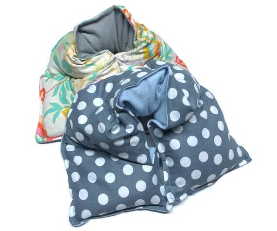 Rice bag heat wrap, set of TWO,  microwave heating pad, rice bag, heating pad, spa neck wrap, flax seed,aromatherapy