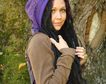 SALE Sacred Geometry Hoodie, Gypsy Clothes, Pixie Coat, Intergalactic Apparel, Festival Clothing