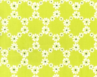 1 Yard Jemma Lime Green cx5912 Fabric Michael Miller Cotton Print