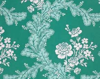 Fabric Veranda Climbing Rose in Shade Teal PWVM071 Verna Mosquera Free Spirit 1 Full Yard