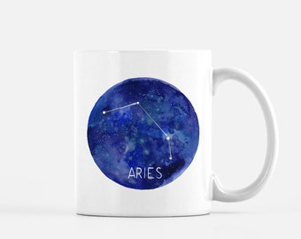 Aries Mug / Ceramic Mug / Astrology Mug / Constellation Mug / Aries Gifts / Mug / Gifts for Her / Witchy Gifts / Aries / Gifts for Aries