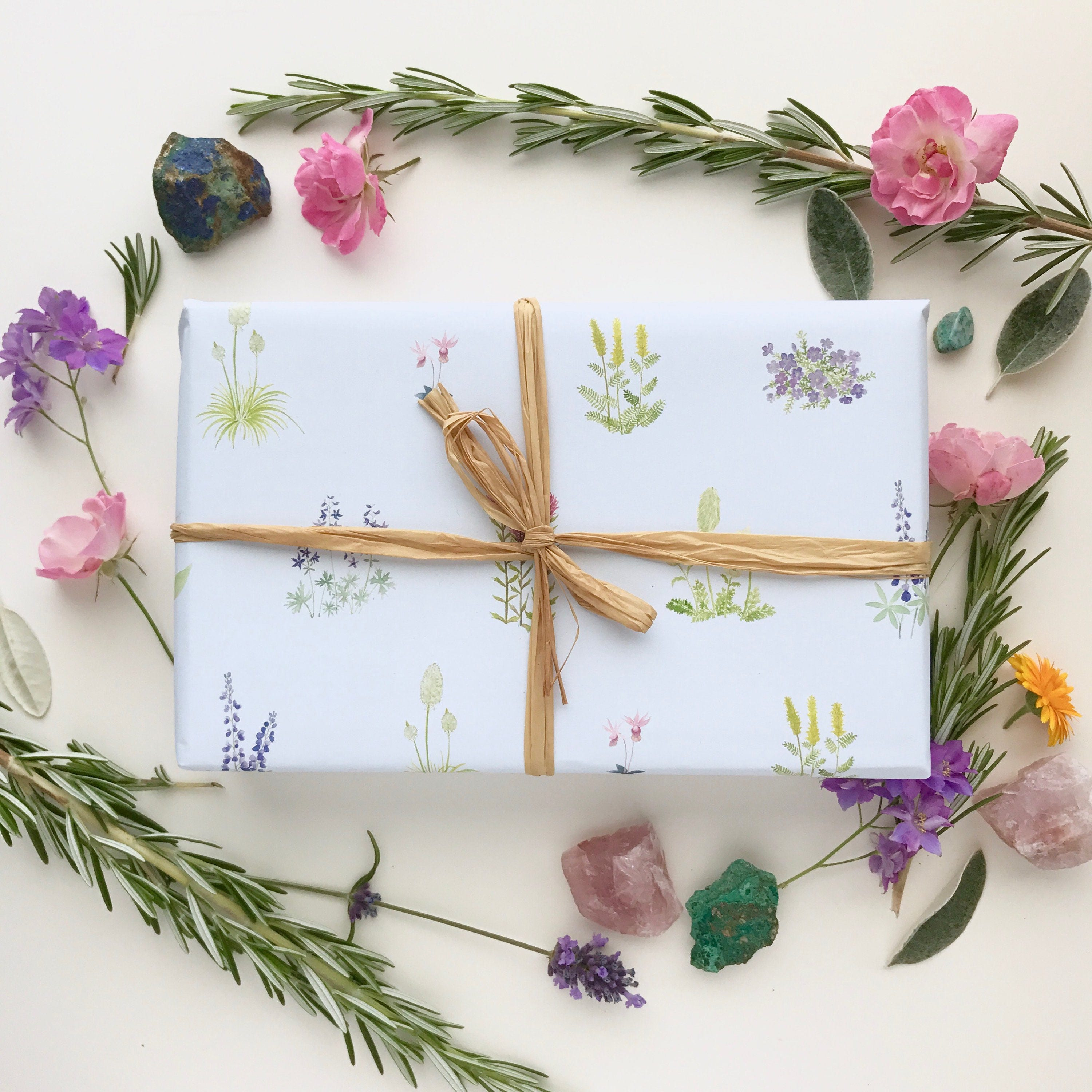 Wildflowers Wrapping Paper Wildflowers Gift Wrap Pacific Etsy