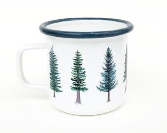 Evergreen Camp Mug / Camp Mug / Oregon Mug / Evergreen Tree Mug / Pacific Northwest Mug / Camping Mug / Oregon Gifts / Camp / Steel Mug