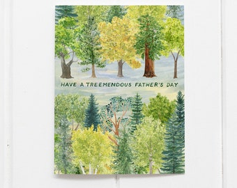 Father's Day Card / Dad Card / Greeting Card / Watercolor Card / Happy Father's Day / Father Card / Forest / Trees Father's Day Card / Trees