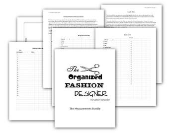 Measurements - printable PDF forms for fashion designers