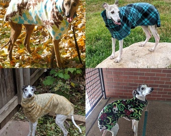 ALL SIZES Sighthound Dog Coat DIGITAL Print at Home Sewing Pattern Designed to be sewn from Polar Fleece