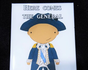 General George Washington original art magnet Broadway musical