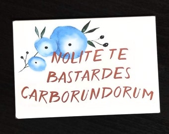 "Handmaid's Tale ""Nolite te bastardes carborundorum"" refrigerator magnet"
