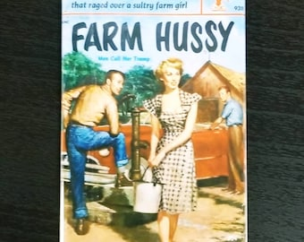 Farm Hussy vintage refrigerator magnet pulp adult fiction cover
