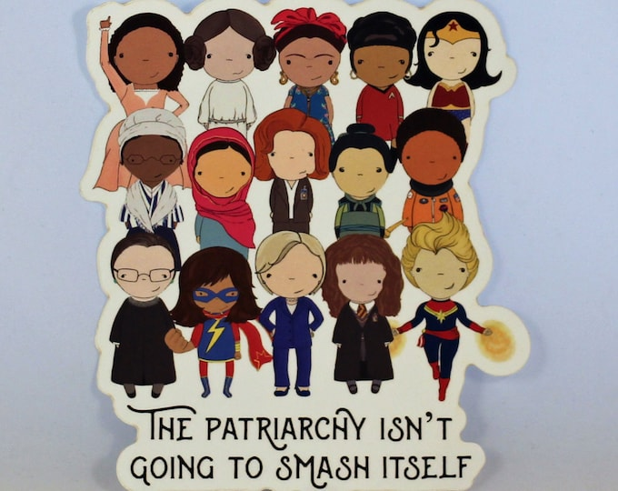 Featured listing image: Smash the Patriarchy original pop culture art vinyl sticker