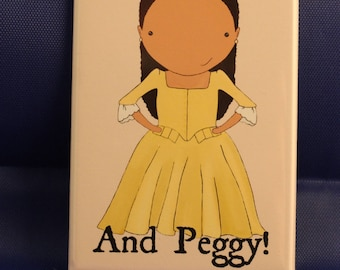 And Peggy! original art magnet
