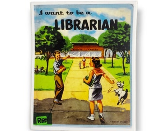 I Want To Be A Librarian book cover vinyl sticker