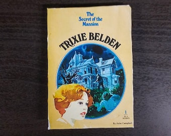 Trixie Belden Secret of the Mansion vintage book cover refrigerator magnet