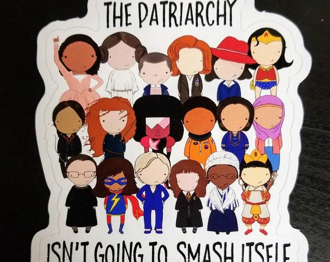 Featured listing image: Smash the Patriarchy original pop culture art vinyl sticker