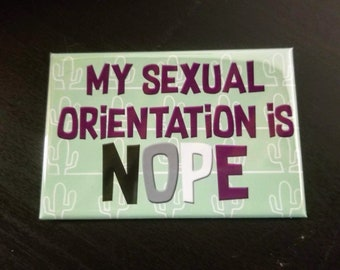 My sexual orientation is nope snarky queer asexual refrigerator magnet
