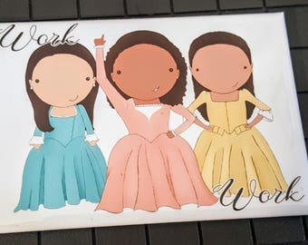 Schuyler Sisters original art magnet set of 4