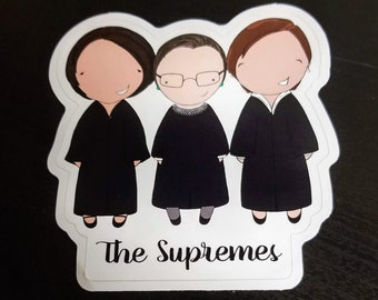 Supremes original pop culture chibi art vinyl sticker
