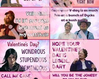Letterkenny printable digital download adult Valentine cards