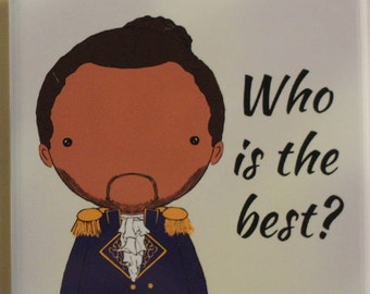 Marquis de Lafayette quote  original art magnet