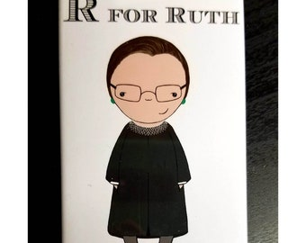 R is for Ruth refrigerator magnet Supreme Court Ruth Bader Ginsburg