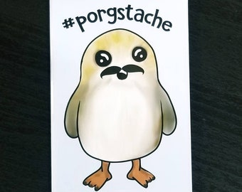 Porsgstache fan art refrigerator magnet
