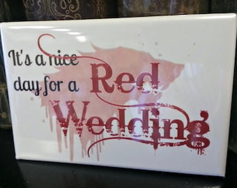 Game of Thrones Red Wedding refrigerator magnet