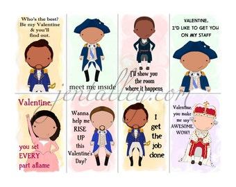 Hamilton Hamilton Series 2 racy sexy printable digital download Valentine cards