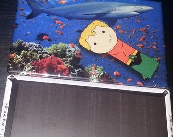 Aquaman Shark refrigerator magnet peg doll comics illustration