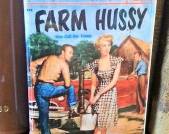 Farm Hussy vintage refrigerator magnet pulp adult fiction cover