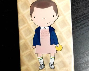 Eleven eggo Stranger Things refrigerator magnet illustration fan art