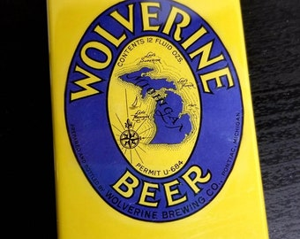 Wolverine Ann Arbor beer retro advertisement label refrigerator magnet