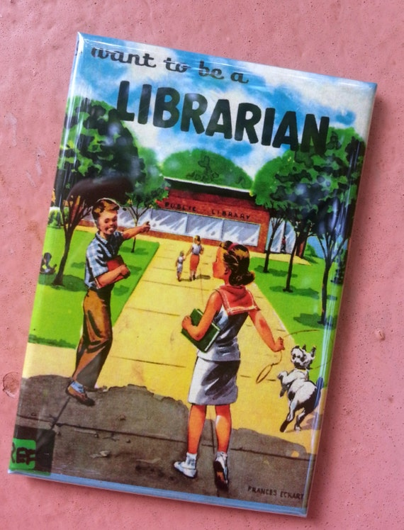 I Want To Be A Librarian Vintage Retro Children S Book Etsy