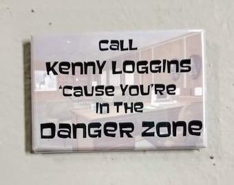 Danger Zone Archer tv quote refrigerator magnet