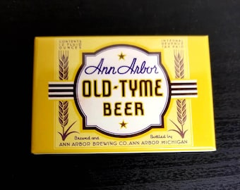 Ann Arbor beer retro advertisement label refrigerator magnet