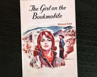 Girl on the Bookmobile vintage book cover career romance refrigerator magnet