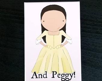 And Peggy! original art magnet