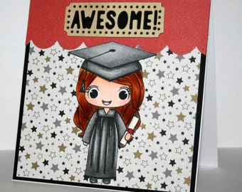 Absolutely adorable handmade Congratulations card for a new graduate