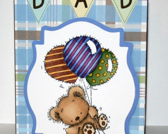 Absolutely adorable handmade card for dad on father's day