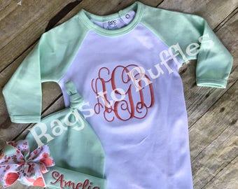 Bébé fille Coming Home tenue - personnalisé enfant robe - monogramme robe ensemble bébé