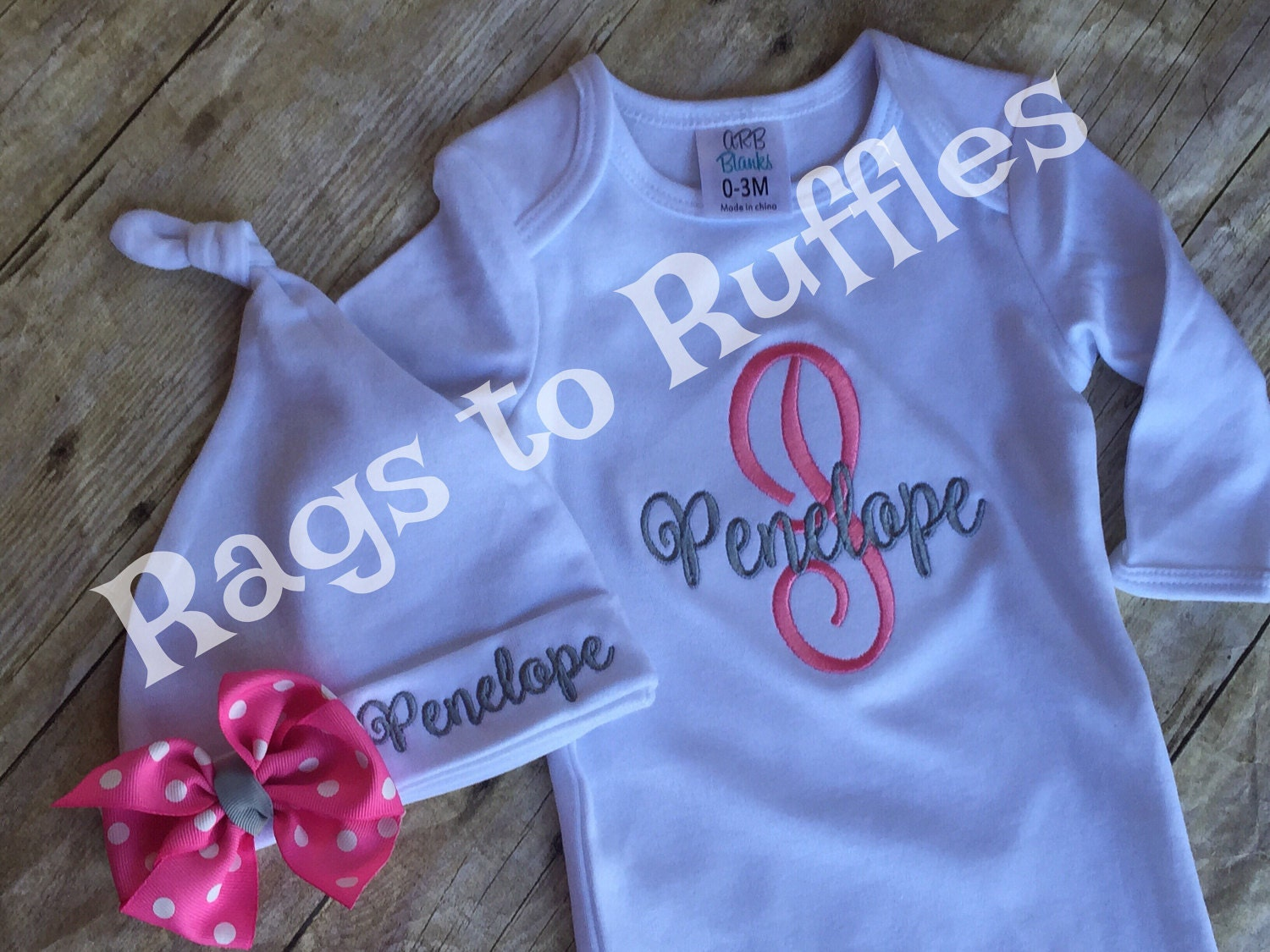 Baby Girl Coming Home outfit Personalized Infant Gown   Etsy