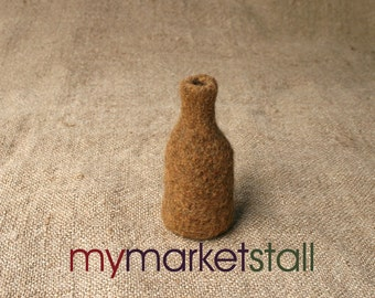 Camel Felted Bud Vase - Made from Alpaca - In Stock - Ready to Ship