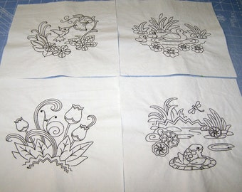 Set of 9 quilt blocks to color