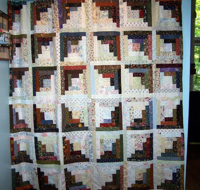 Patchwork Log Cabin Shower Curtain