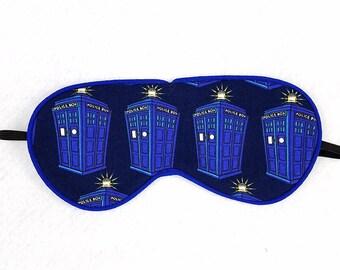 Doctor Who Cartoon Style TARDIS Sleep Eye Mask