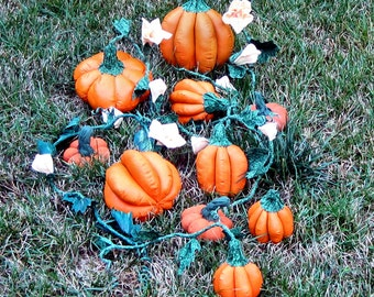 PDF Primitive Pattern, PrimitivePumpkin, Blossom, Soft Sculpture Pumpin,Vines, Flower Bud