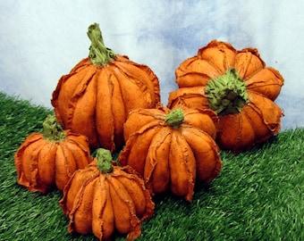 Pdf Pattern, Primitive Pumpkins, Sewing Pattern, Fabric Pumpkins
