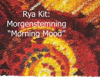 """Rya Kit from Norway-- Morgenstemning--Large Horizontal Size 79"""" wide x 35"""" tall (170 x 130 cm) with MANY different Colors"""
