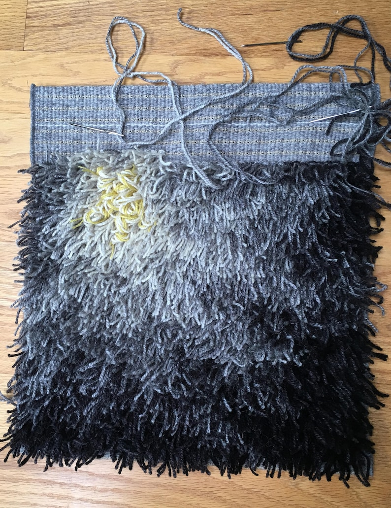 Fireflower Rya Kit  16 x 16 .  Natural Grays Natural Gray2-strand