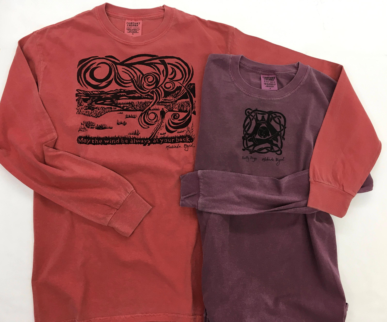c9ed9187b14 LONG-SLEEVE Unisex Hand-printed Shirts from Original Woodcuts