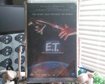 E.T. the extra terrestrial VHS tape Sealed New Copy 80s Notostgi Children's VHS Free Shipping